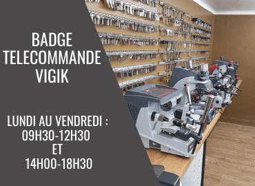 reproduction badge telecommande vigik nice